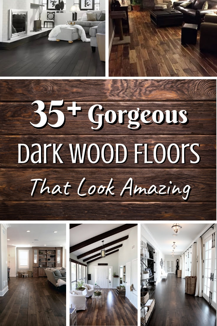 These are some amazing looking dark wood floors. Great inspiration ideas! #homedecor #hardwoodfloor