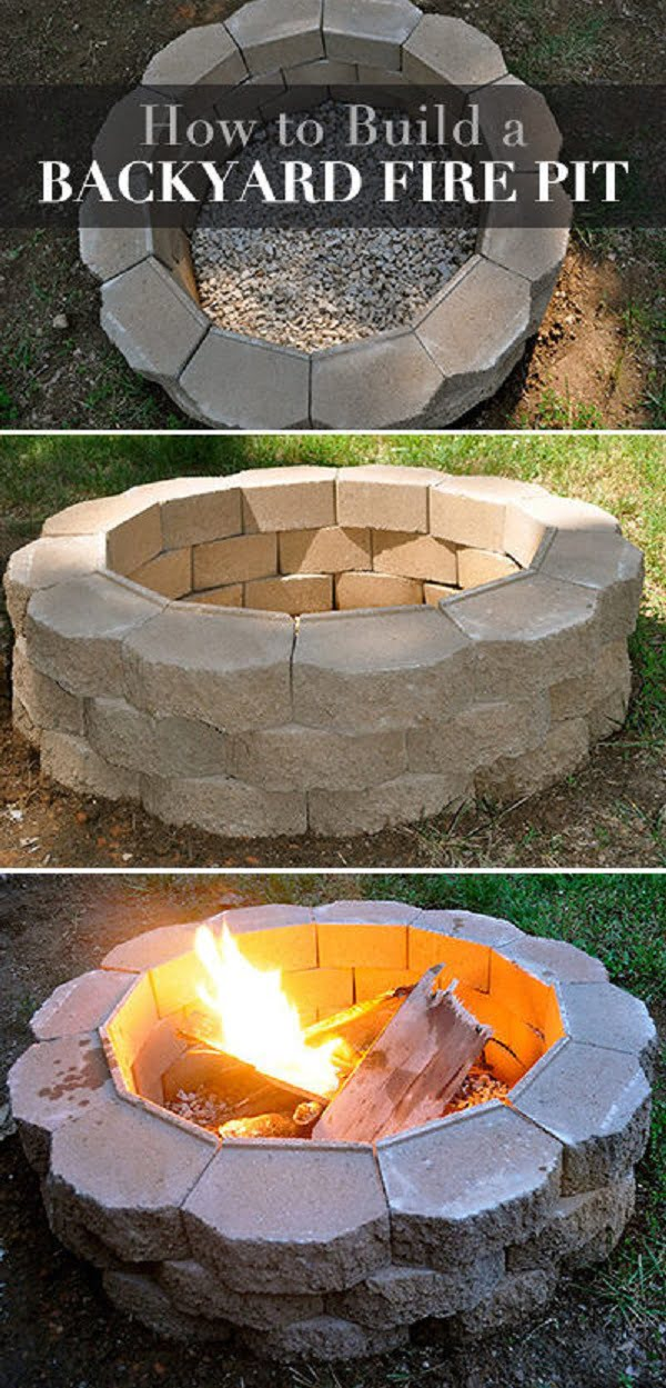 How to make an easy  fire pit for a . Great idea!