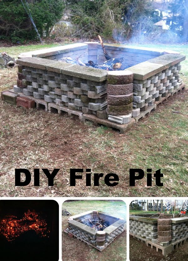 How to make a big  fire pit in your  from repurposed materials. Nice project!