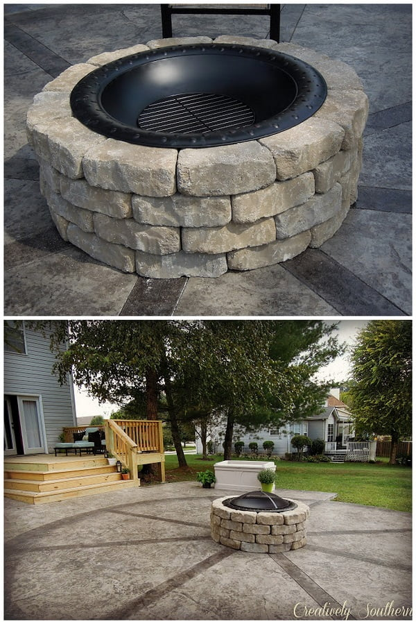 How to build a  fire pit for under $80. Great project!
