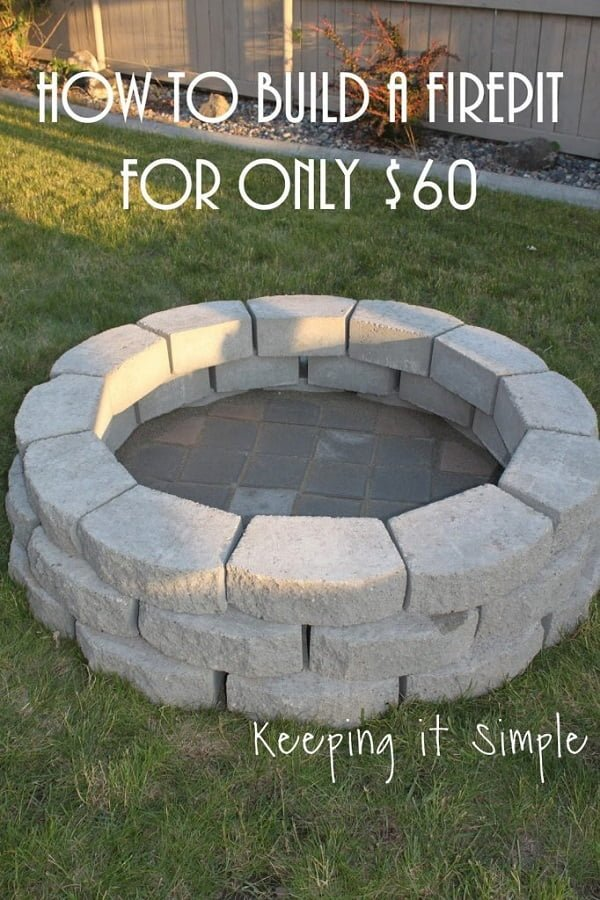 How to make a  fire pit in your  for under $60. Great idea!