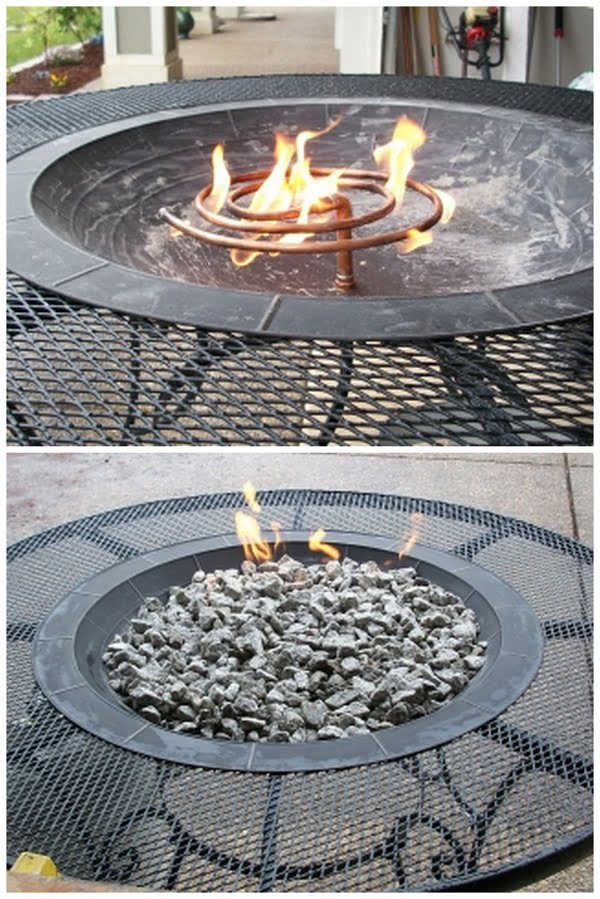 How to make a  gas fire pit for your . Great project idea!