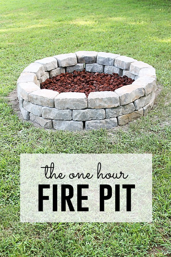 How to build a  fire pit in your  in one hour. Great project idea!