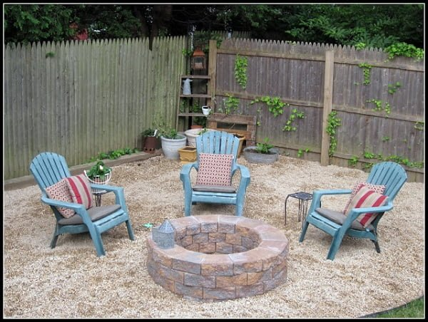 How to make a  round fire pit from stone blocks. Great project!