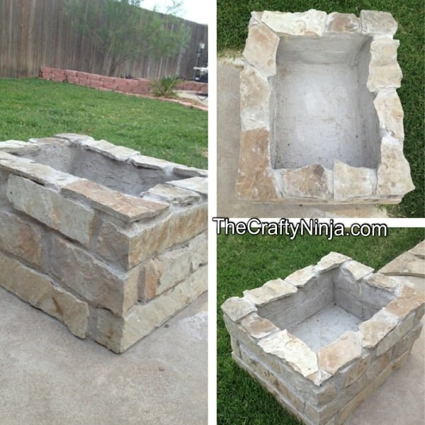 How to make a  stone fire pit in the . Great idea!