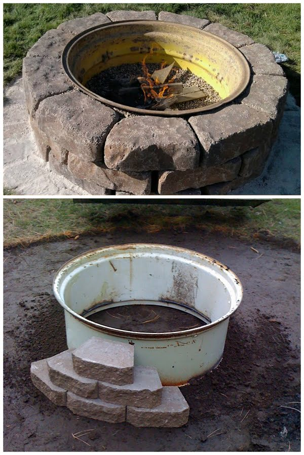 How to make a  fire pit from a repurposed tractor tire. Great  project idea!