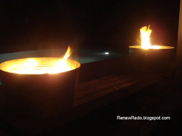 How to make a very quick and easy  fire pit from a wash pail. Neat idea!