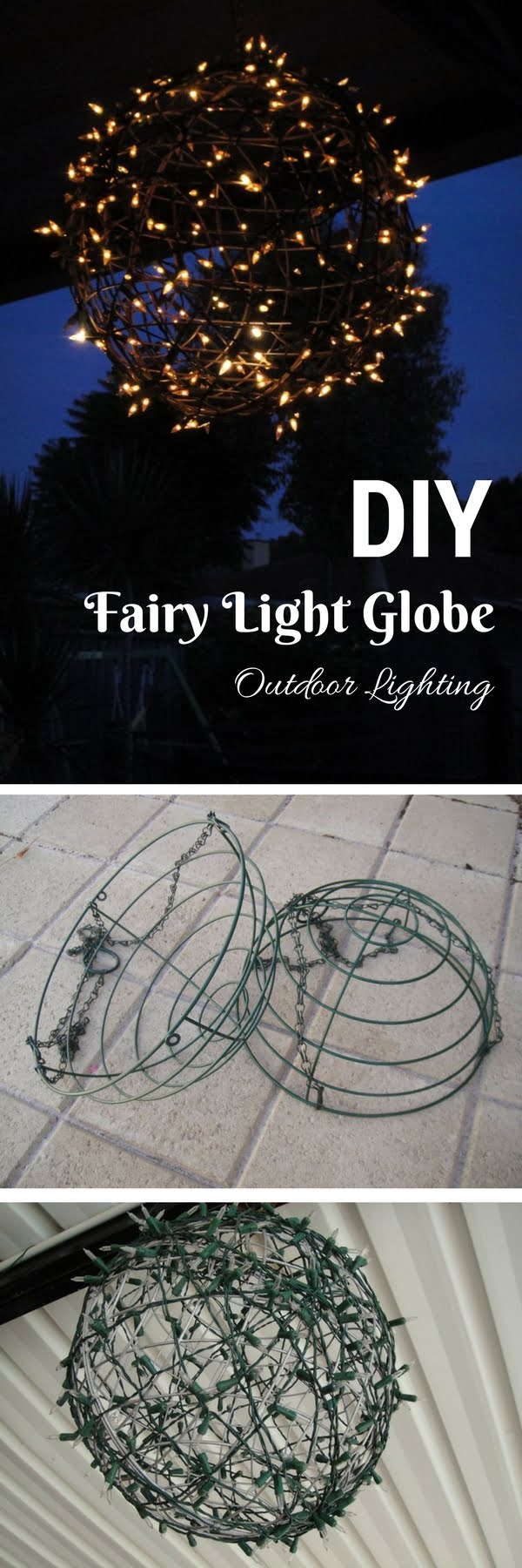 How to make an easy DIY fairy light orb