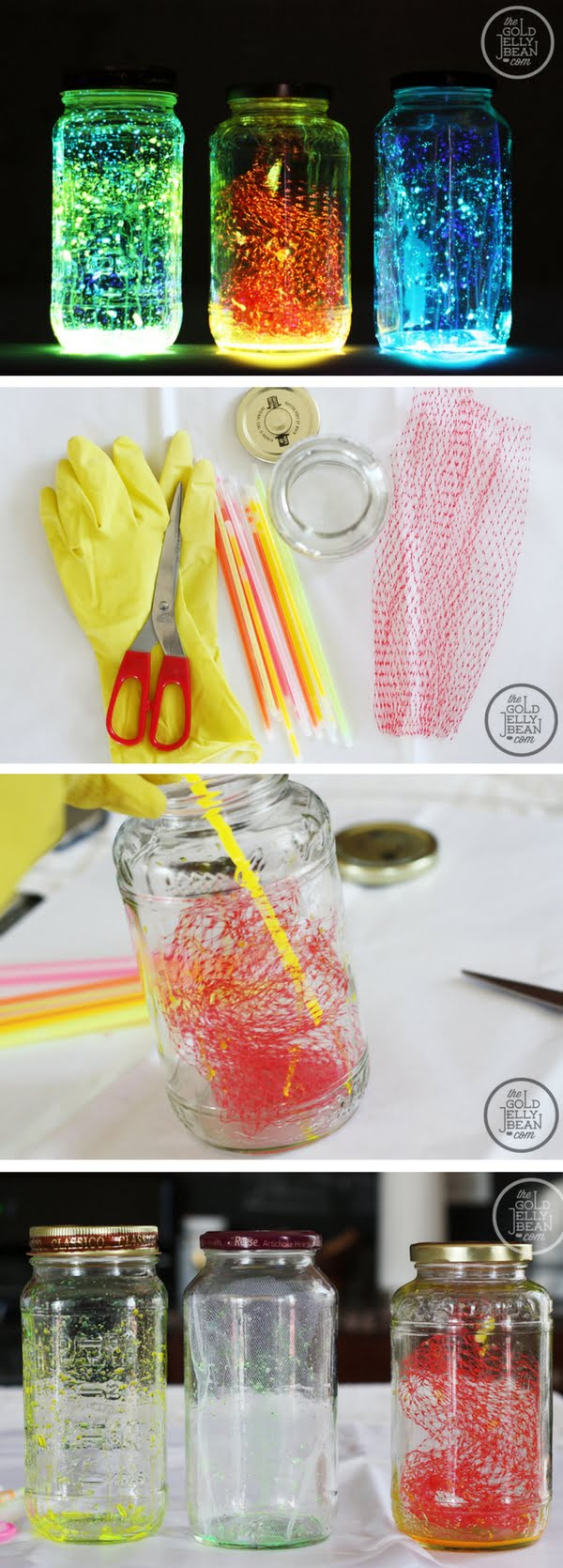 How to make easy DIY outdoor glow jar lights
