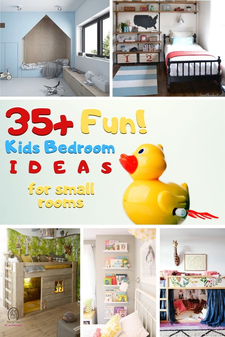 Decorate the best kid bedroom for your child even in a small room. Here's a great list of ideas! #homedecor #kidsroom