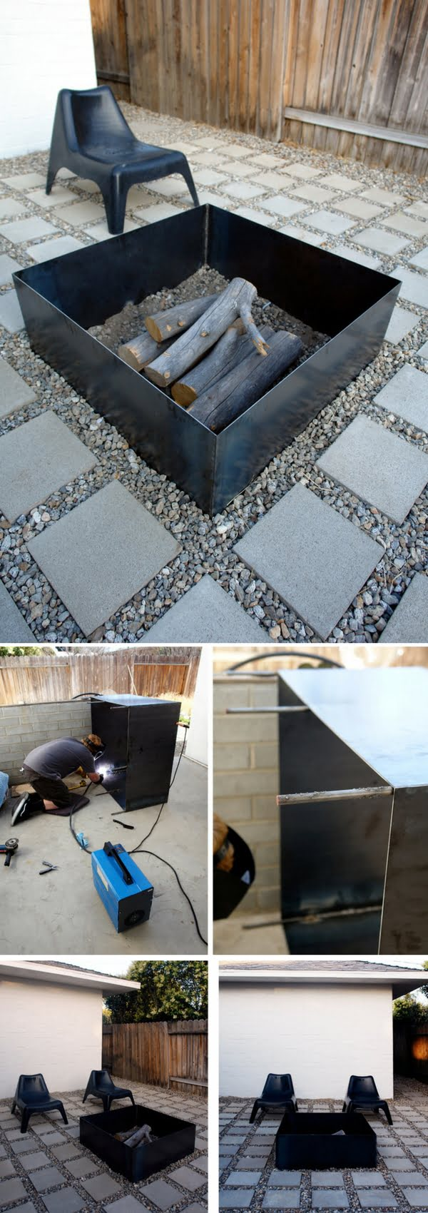 Check out the tutorial on how to make a DIY metal fire pit