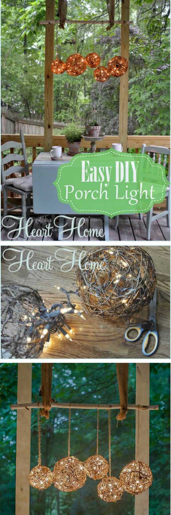 How to make an easy DIY outdoor orb chandelier