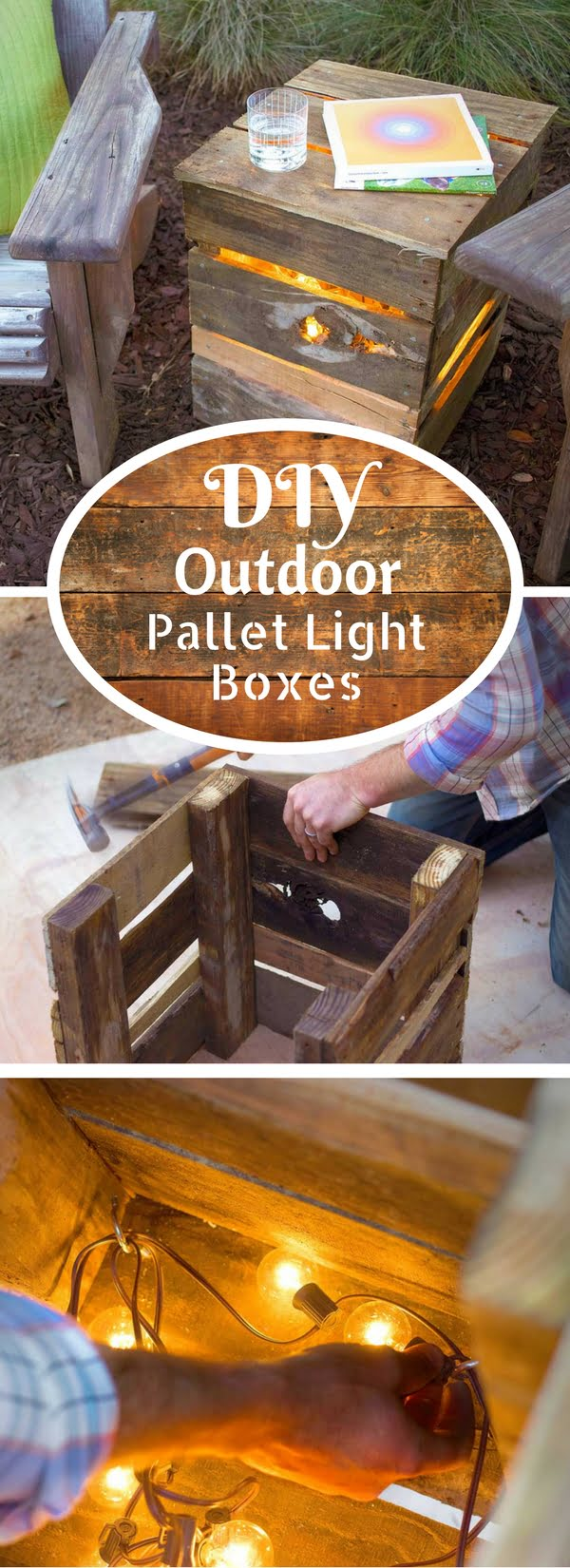 How to make easy DIY outdoor pallet lights