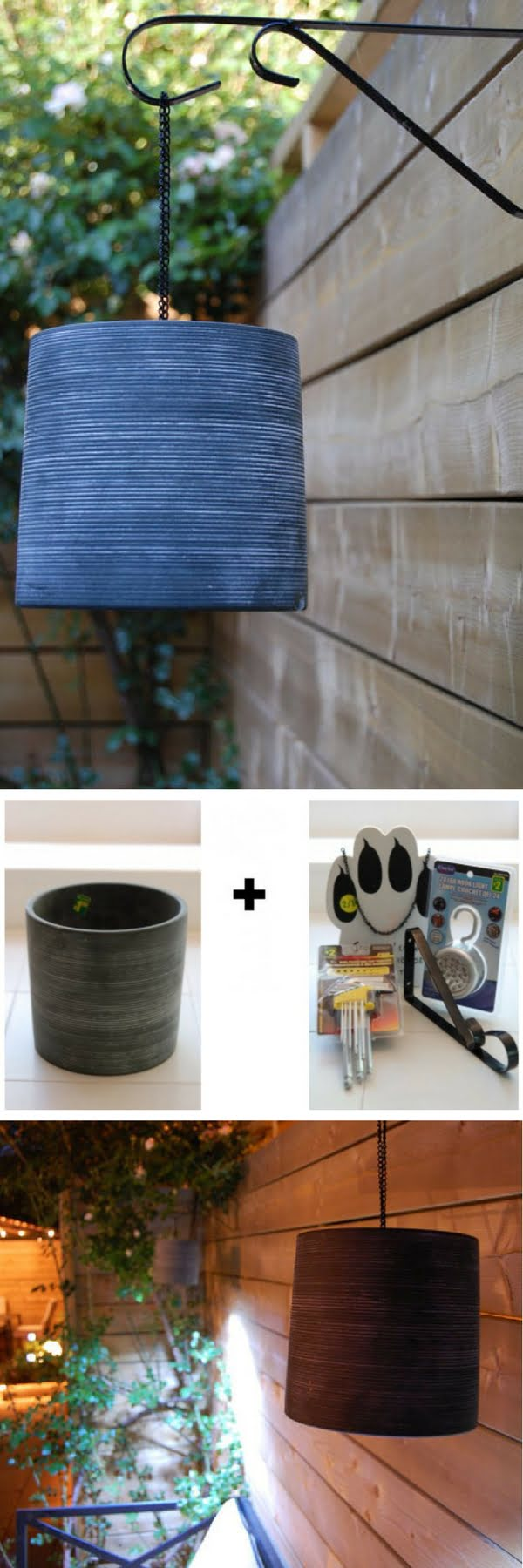 How to make easy DIY outdoor basket lights