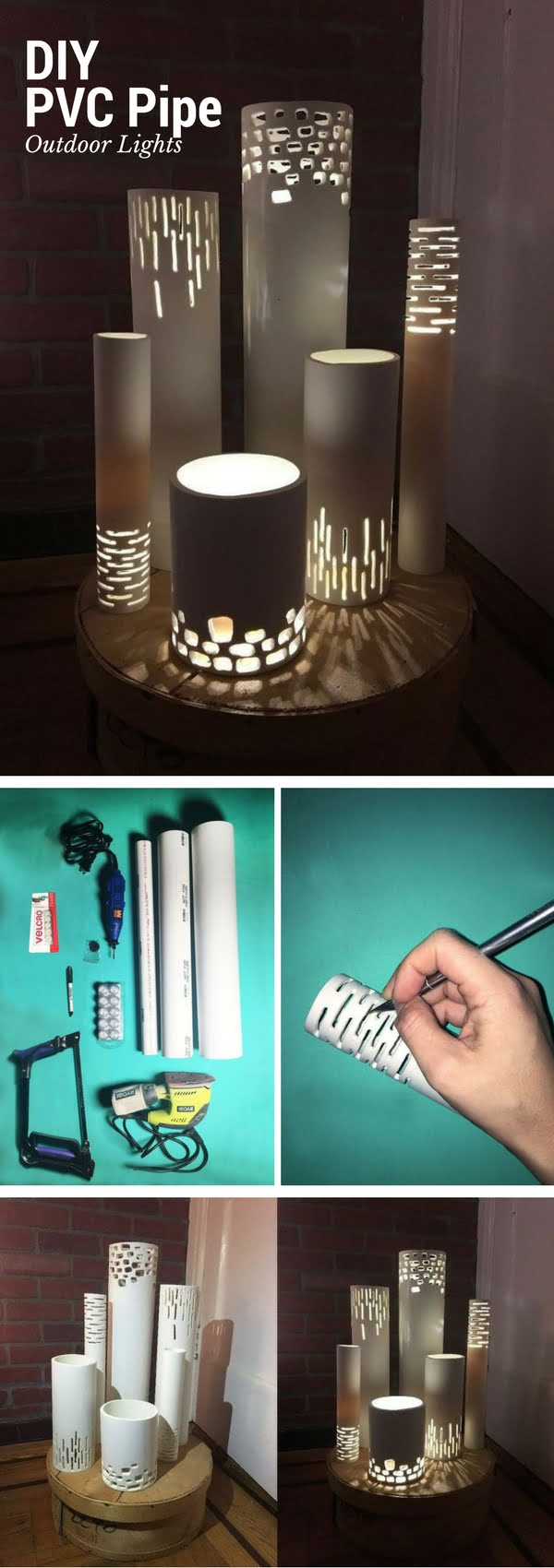 How to make easy DIY outdoor pvc pipe lights