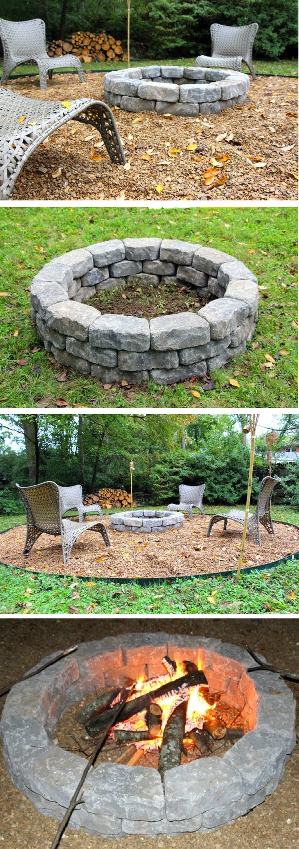 Check out the tutorial on how to make an easy DIY round fire pit