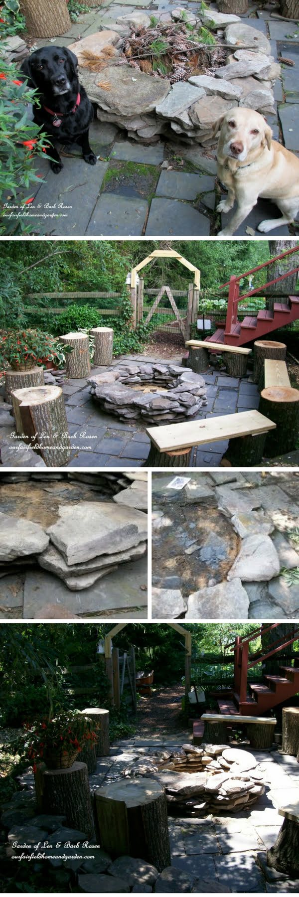 Check out the tutorial on how to make a DIY stacked stone fire pit