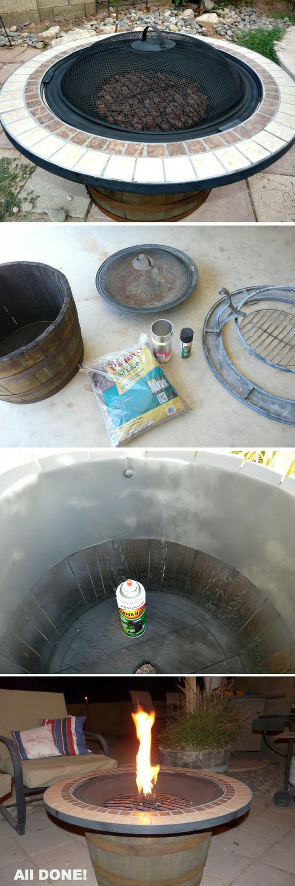 Check out the tutorial on how to make a DIY whisky barrel fire pit