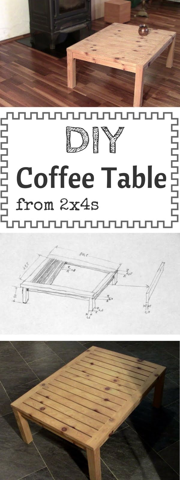 Check out how to make a DIY wooden coffee table from 2x4s