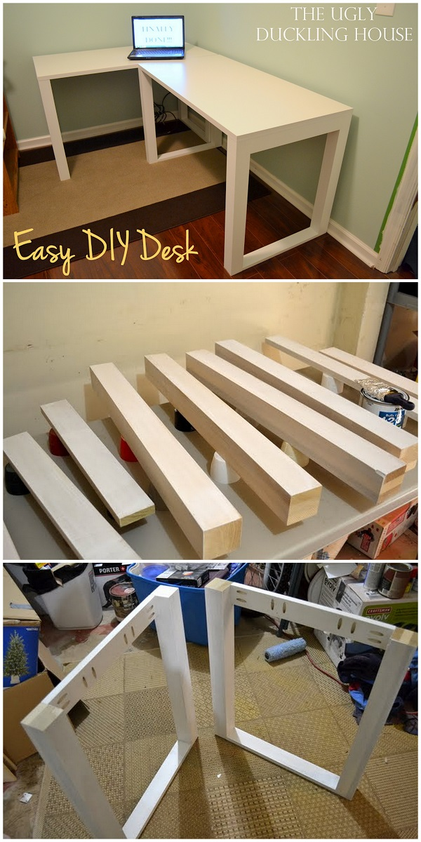 Check out this idea for a #DIY easy crafts desk. Looks easy enough! #HomeDecorIdeas