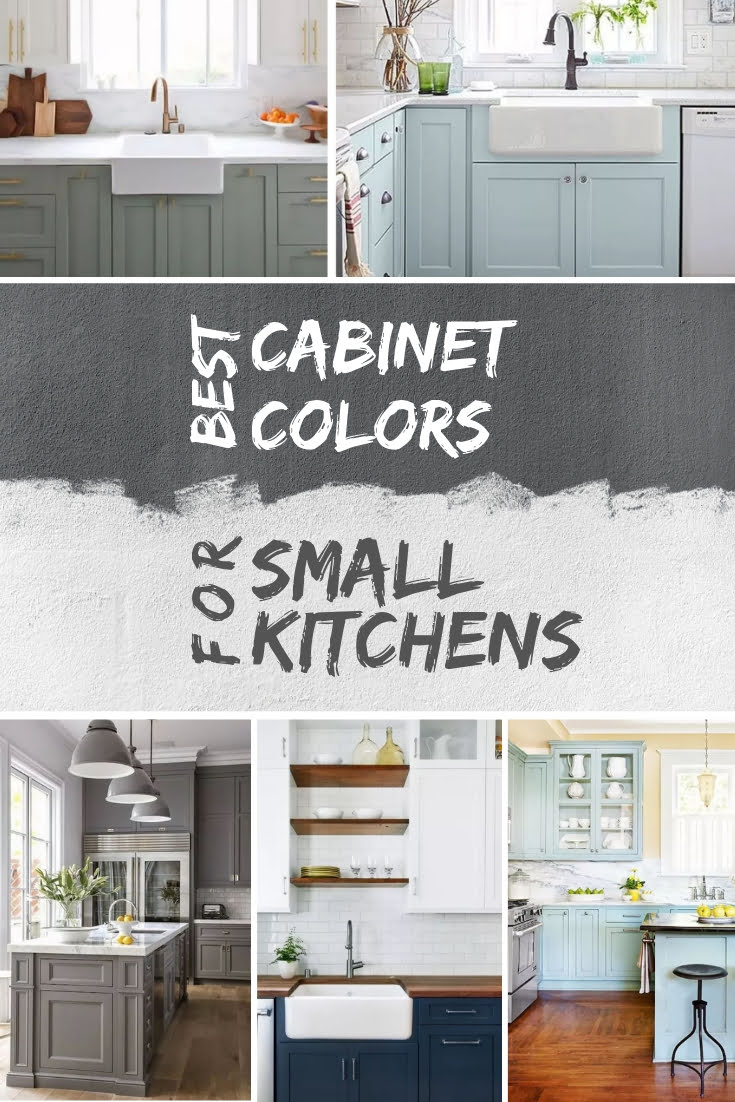 What are the best cabinet colors for a small kitchen? Here's the answer with example #homedecor #kitchendesign