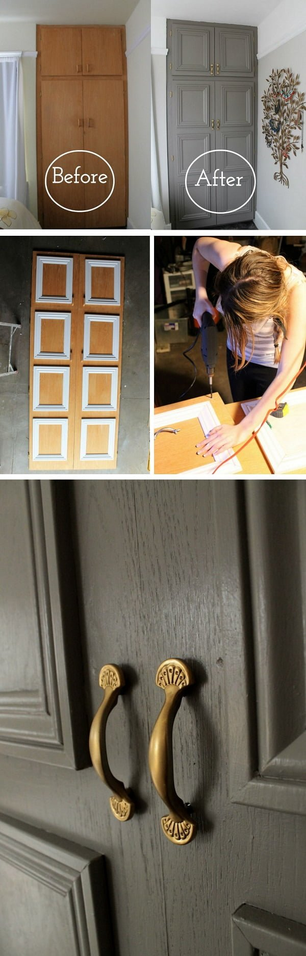 How to make a DIY closet door makeover