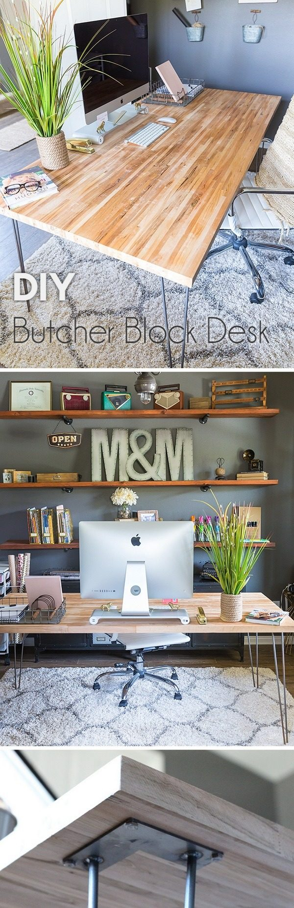 Check out the tutorial how to build a DIY butcher block desk