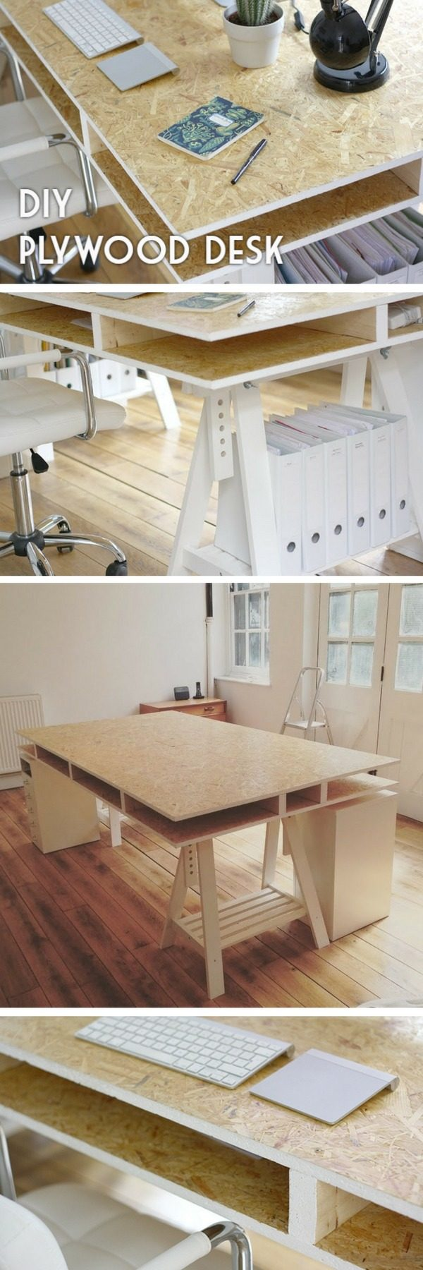 Check out the tutorial how to build a cheap and easy DIY desk