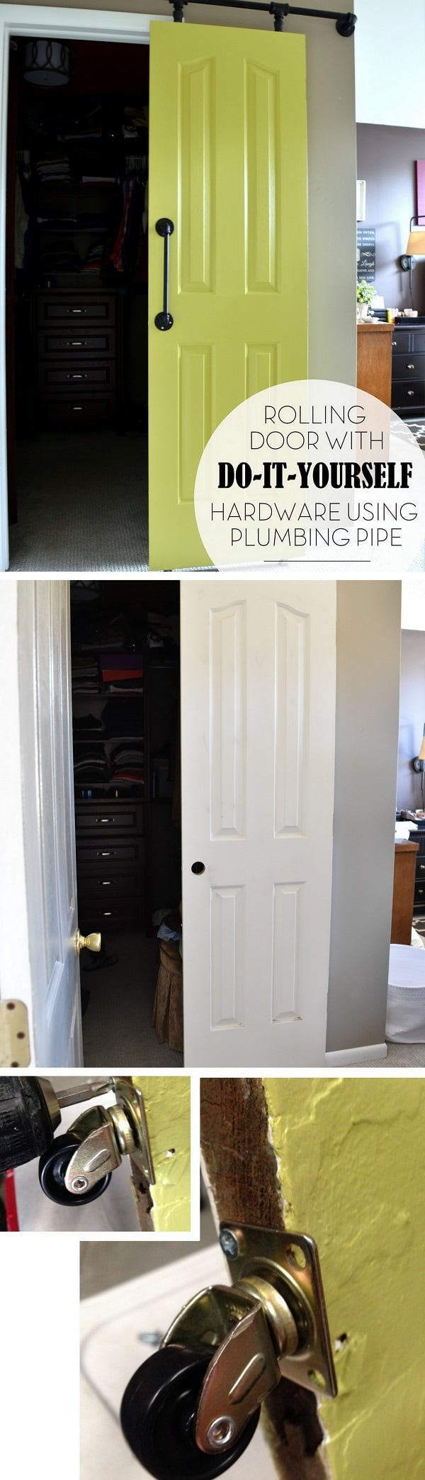 Check the tutorial out how to make DIY rolling door with plumbing pipe