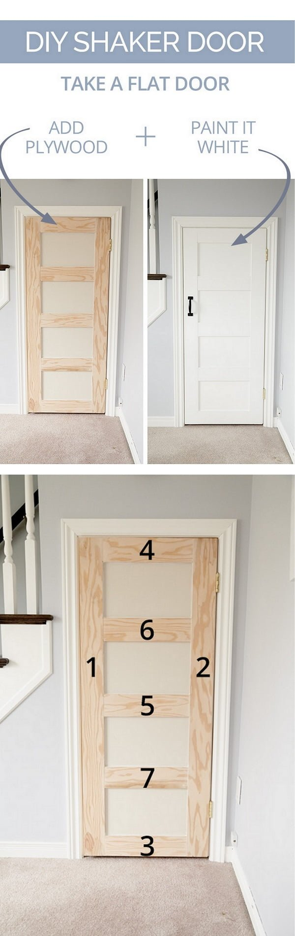 How to make a DIY panel door