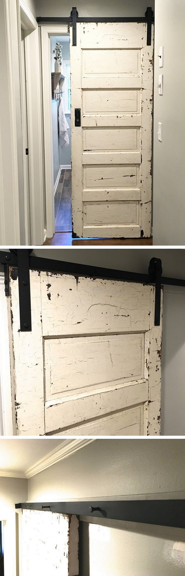 How to make DIY track door