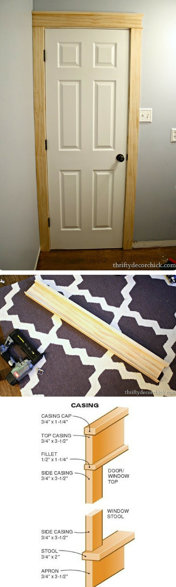 How to make DIY thick door trim