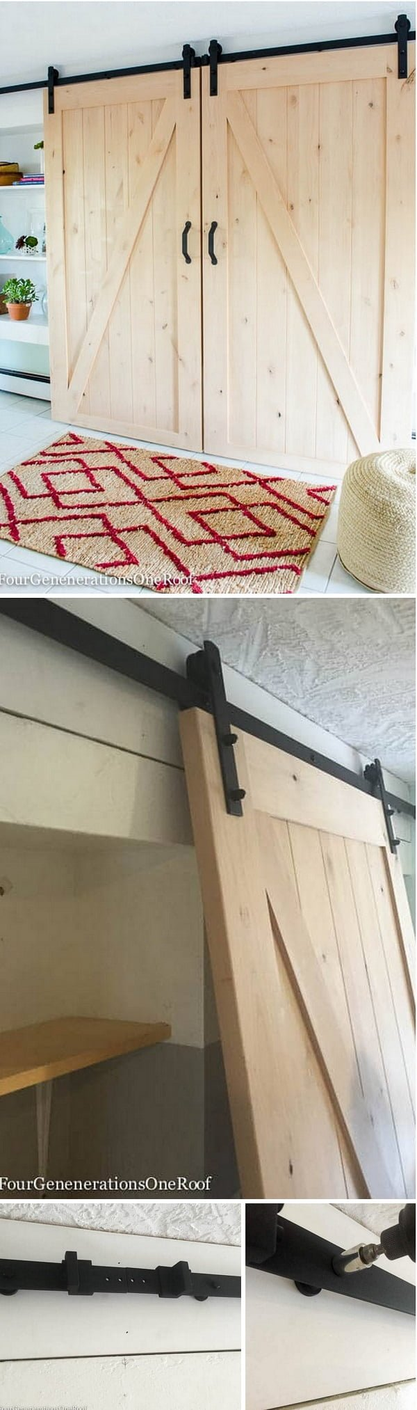 How to make DIY sliding double barn door