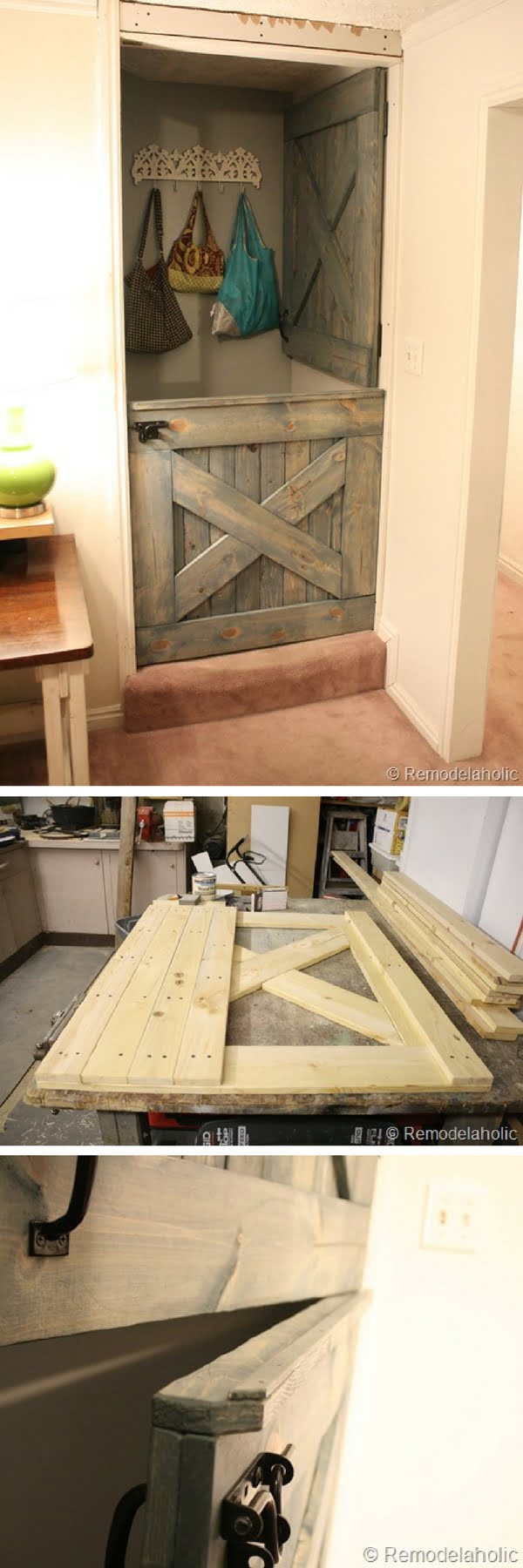 Check out how the tutorial to make DIY dutch barn door