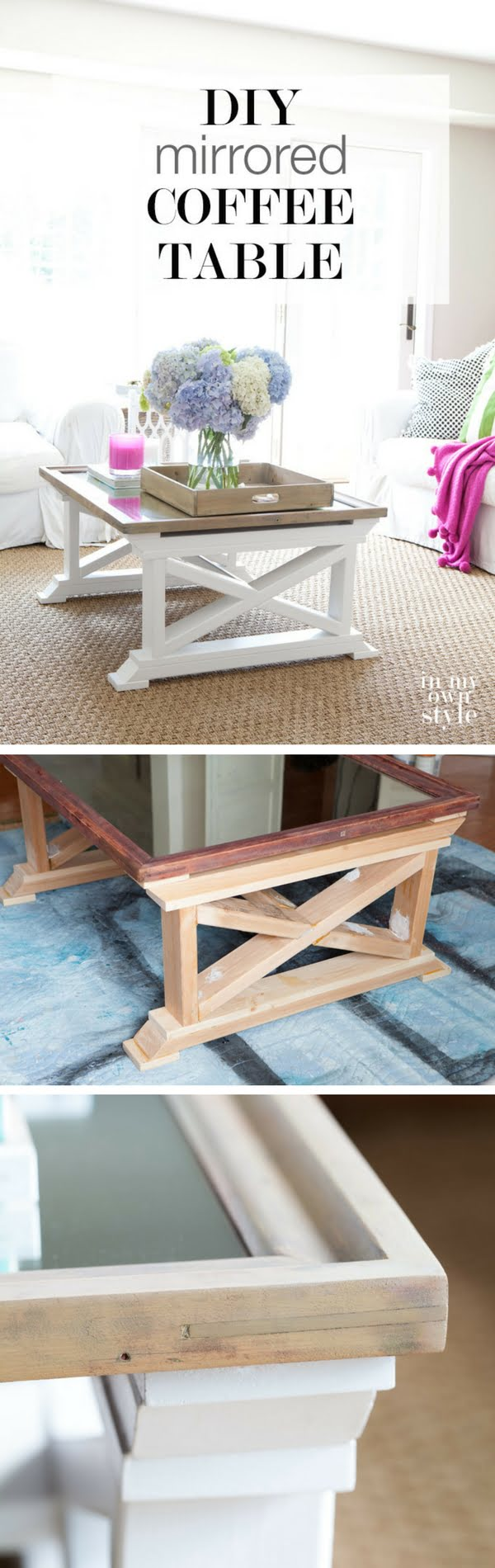 20 Crafty 2x4 DIY Projects That You Can Easily Make - Check out how to make a DIY mirror coffee table from 2x4s