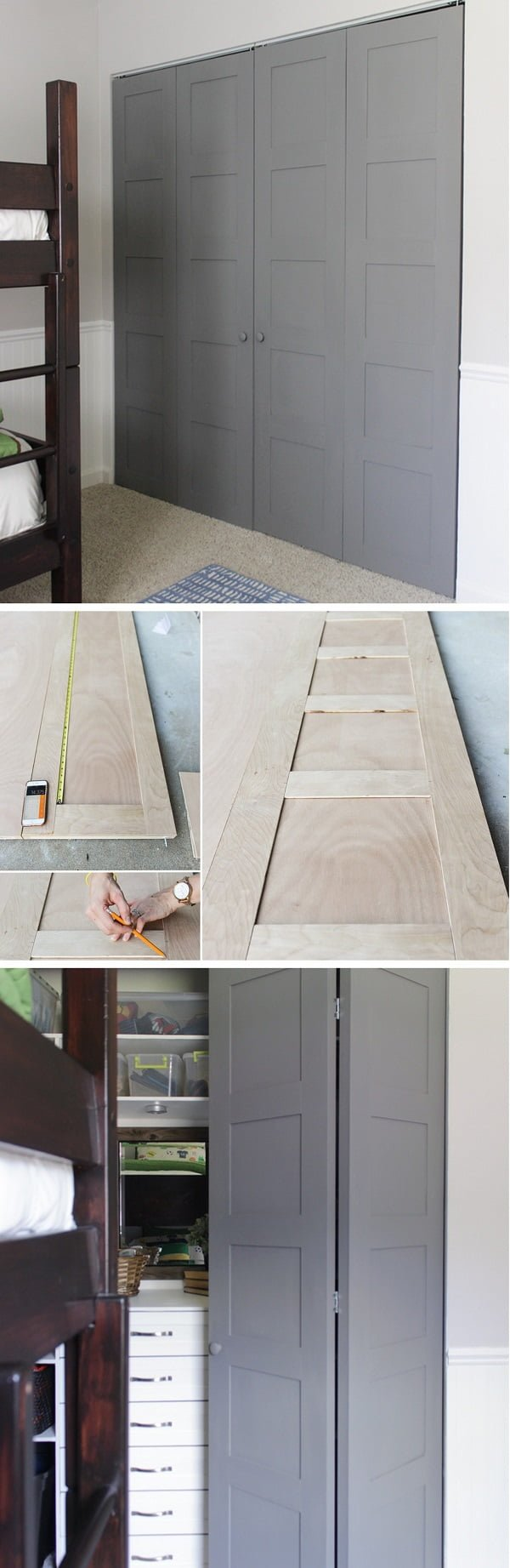 How to make stylish DIY bi-fold closet door