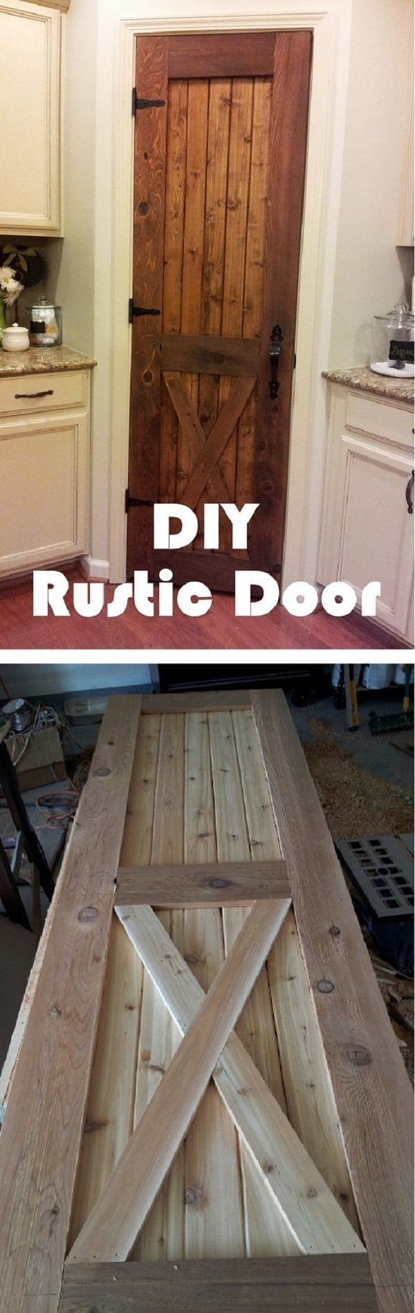 How to make DIY rustic pantry door
