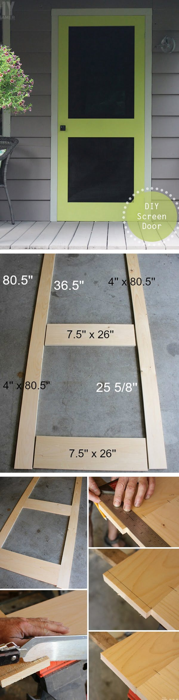 How to make DIY screen door