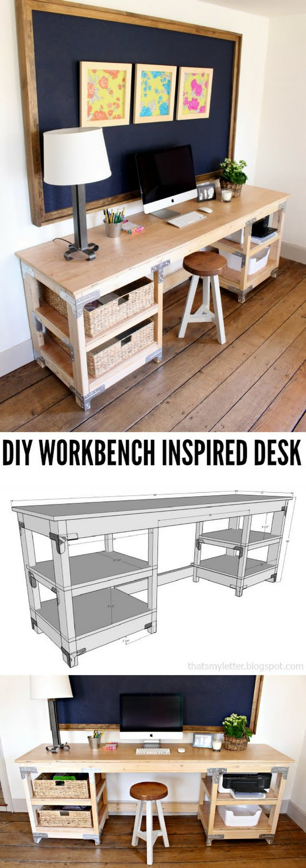 Check out the tutorial how to build a DIY workbench desk
