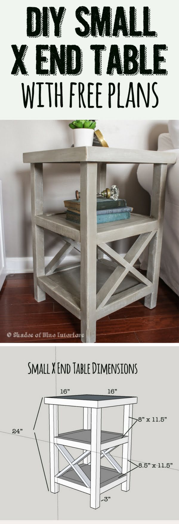 18 Easy DIY Sofa Side Tables You Can Build on a Budget - Check out the tutorial how make a small DIY sofa X end table