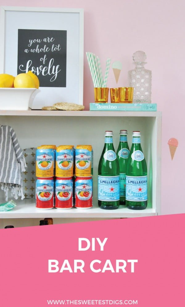 Check out the tutorial how to build a DIY bar cart from a bookcase @istandarddesign