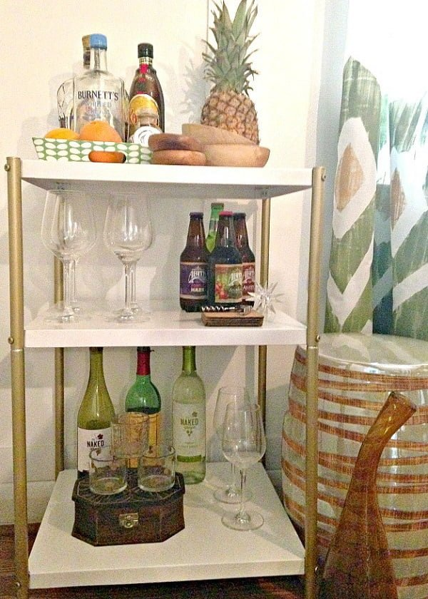How to build a  upcycled bar cart