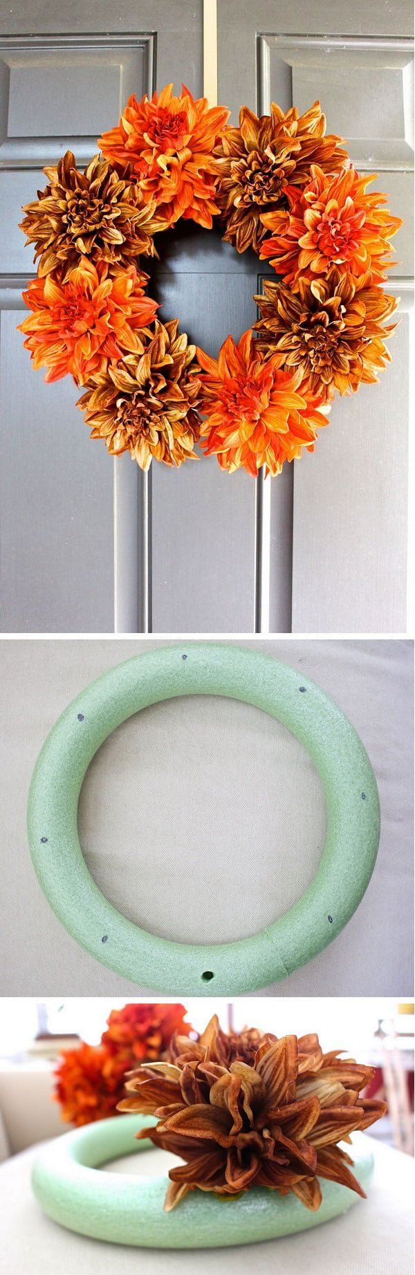 Check out the tutorial how to make a DIY fall wreath