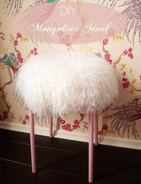 Check out the tutorial how to make a DIY Mongolian stool for home decor @istandarddesign