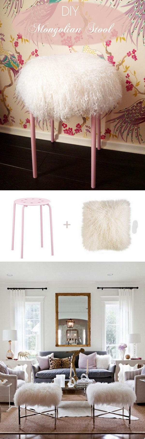 Check out the tutorial how to make a DIY Mongolian stool for home decor