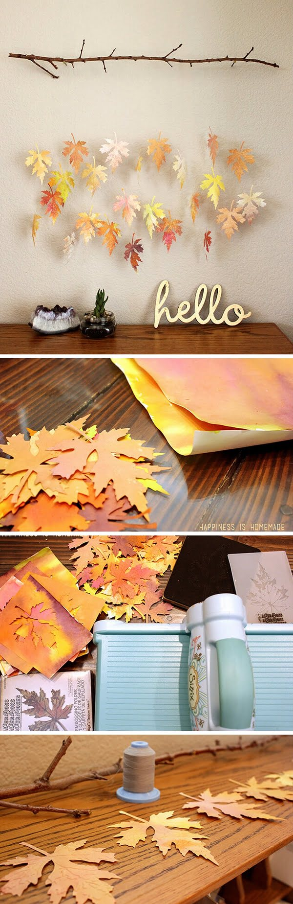 Check out the tutorial how to make a DIY faux fall leaf garland from paper