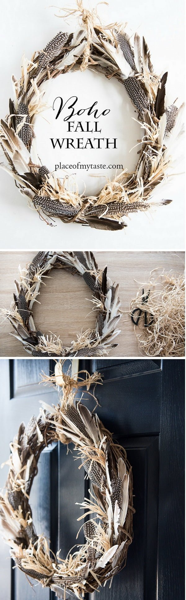 Check out the tutorial on how to make a DIY boho fall wreath