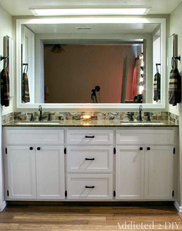 How to build a #DIY double bathroom vanity #homedecor