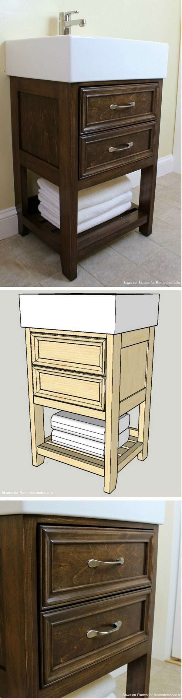How to make a  sink vanity IKEA hack