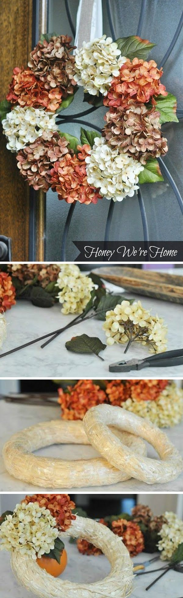 Check out the tutorial on how to make a DIY floral fall wreath